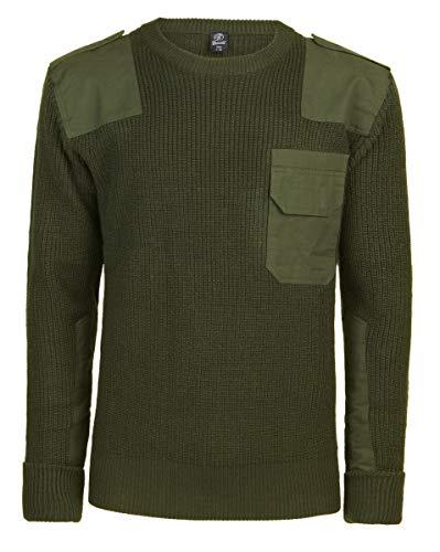 Brandit BW-Pullover - Rundhals - Oliv - Größe L/52