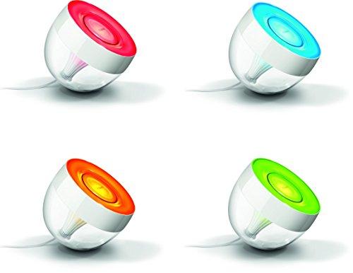 Philips-Hue-Iris-Lmpara-de-mesa-conectada-iluminacin-inteligente-controlable-va-Smartphone-y-accesorios-Hue-16-millones-de-colores-color-transparente