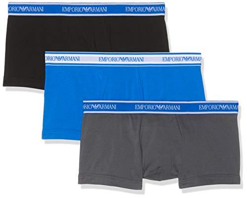 Emporio Armani Underwear, Herren Unterhosen 3er Pack,Grau (ANTRACITE/NERO/ONDA 22844), X-Large