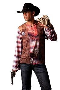 Hilka Cesar B812-007 - Camiseta efecto disfraz de vaquero, talla 64
