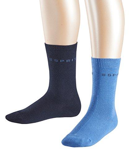ESPRIT Jungen Socken Foot Logo, 2er Pack, Mehrfarbig (Sortiment 0060), 39-42 (Kinder-logo-socken)