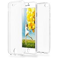 Doppia cassa come nome del iPhone 6 / 6S | Trasparente Custodia in silicone copre l'intero | Thin 360° completa casi di smartphone per OneFlow | Quarta di copertina in Incolore