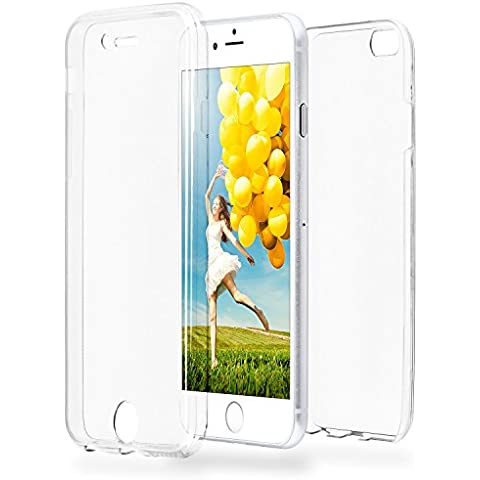 Double Case für iPhone 6 Plus / 6S Plus | Silikon Hülle Transparent Beidseitiger Schutz | Dünne 360° Full Handy Tasche von OneFlow | Back Cover in FarblosTransparent