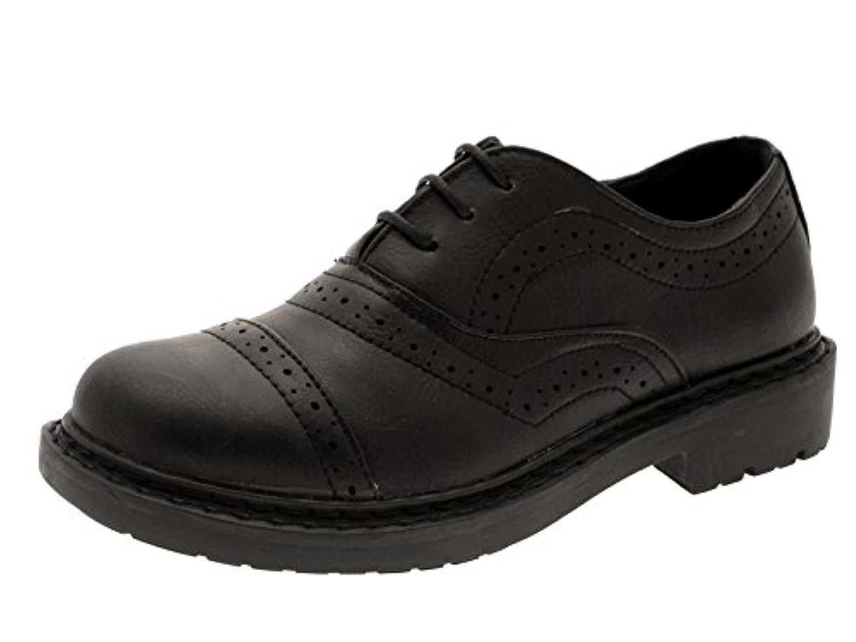 Boys Black Smart Brogue Formal Shoes