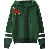 0e2b31166f Sport Hoodie MEIbax Damen Stickerei Applique Langarm Hoodie Sweatshirt  Pullover mit Kapuze Pullover Oberteile Bluse