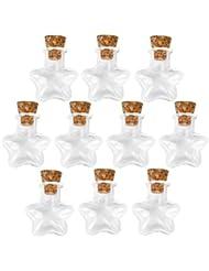 LEORX Charms fioles Mini vide en verre Mini bouteilles en verre Wish Bocaux Pendentif -10pcs