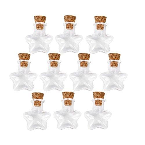 Colgantes burbujas LEORX Mini cristal sin tapa para conservas Mini botes de cristal Wish -10 piezas lámpara de techo botellas