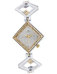 Escort Analog Silver Dial Women's Watch- 2350 TM SL