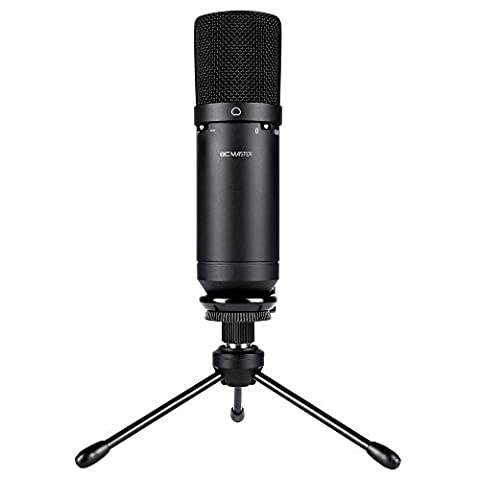 BC Master USB Condenser Microphone Recordings for Home Studio Skype Messages FaceTime Twitch YouTube Google Voice Search Games ecc, Compatible with Windows Mac, Cardioid- 1610USB