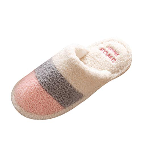 Sanahy Slippers Home Memory Foam Holzböden Pantoletten Herbst Winter Herren Damen -
