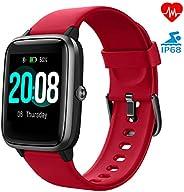 LIFEBEE Smartwatch Orologio Fitness Tracker Uomo Donna, Bluetooth Smart Watch Cardiofrequenzimetro da Polso Sc