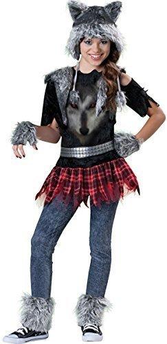 Mädchen 6- Teiliges Werwolf Halloween Animal Horror Film Kostüm Kleid Outfit 8-14 jahre - 10-12 (9 Halloween Film Kostüm)