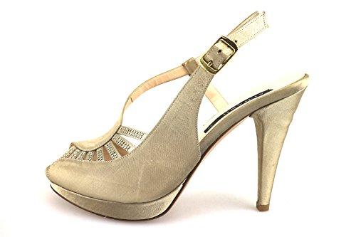 ALBANO 37 EU sandali donna beige raso swarovski AG202