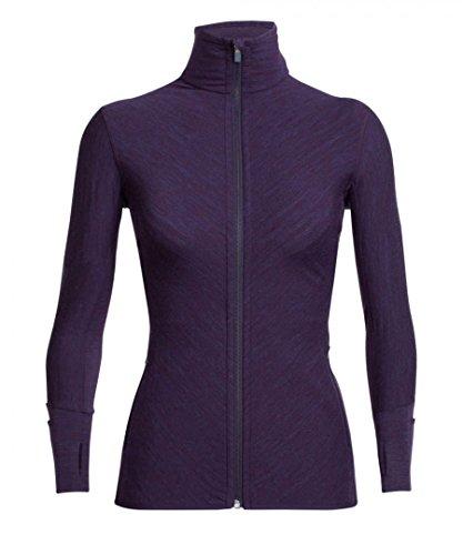 Icebreaker 240 Descender Longsleeve Zip Women - Merino Fleecejacke burgundy violett