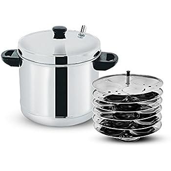 Buy Prestige Stainless Steel Idli Plates 5 Litres Silver