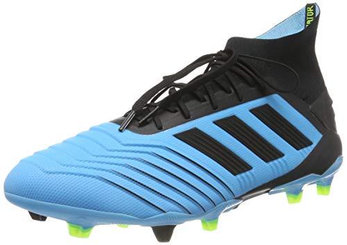 adidas Predator 19.1 FG, Zapatillas de Fútbol para Hombre, Azul (Bright Cyan/Core Black/Solar Yellow Bright Cyan/Core Black/Solar Yellow), 42 EU