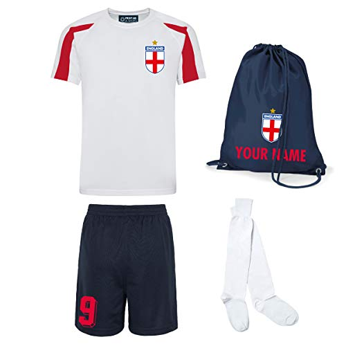 Kids Customisable England Style Kit Football Shirt, for sale  Delivered anywhere in UK