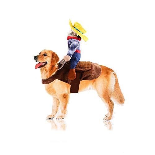 Der Keks Hunde Kostüm - XinC Haustier Halloween Kostüm Reiten Anzieh Weihnachten Spaß Katze Hund Maskerade Requisiten Klettverschluss Easy Wear,M