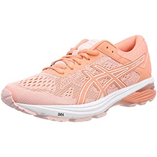 ASICS Women's Gt-1000 6 Competition Running Shoes, (Seashell Begonia Pink/White), 39.5 EU (6 UK)