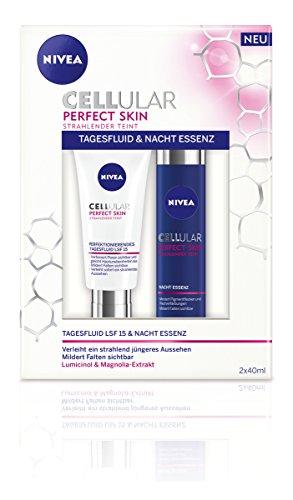 Nivea Pflegeset Cellular Perfect Skin, Tag und Nacht, für Frauen, 1er Pack (1 x 2 Stück)