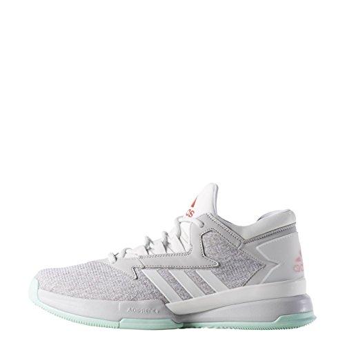 adidas Street Jam II, Chaussures de Sport-Basketball Homme Blanc Cassé - Blanco (Brgrcl / Rojray / Verhie)
