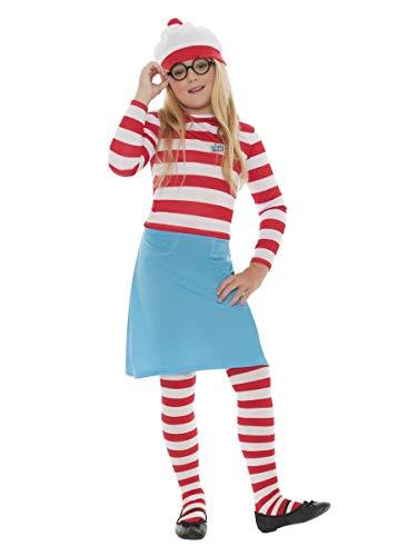 Fancy Me Jungen Mädchen Kinder Wo Ist Wally Waldo büchertag Kostüm Kleid Outfit 4-12 Jahre - Mädchen, 7-9 Years
