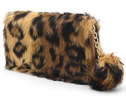 Dielay - Cartera para Mujer Mujer Leopardo 19 x 10 Zentimeter