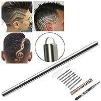 MOGOI - Maquinilla de afeitar para el pelo, multifuncional, diseño de cejas, con 10 cuchillas y 1 pinza para el pelo, para hombres y mujeres y adolescentes