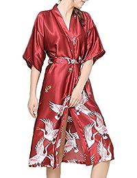 e0a295cfd0a Betrothales Nuit Kimono Réchauffement Pyjama Elle Sleepwear Plus Nightdress  Mariage Robe Satin Demoiselle Mariée D
