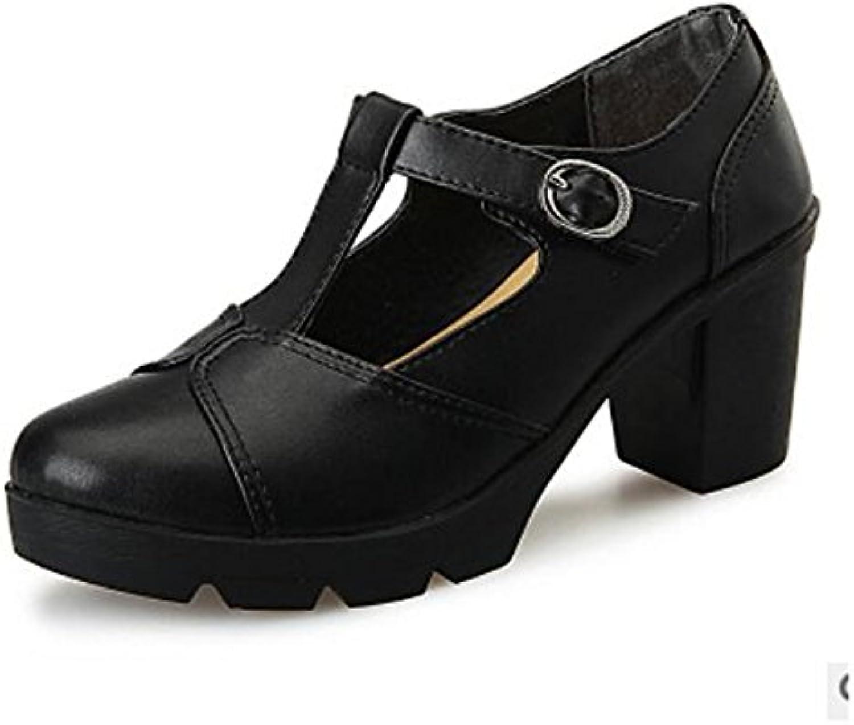 DIMAOL Damenschuhe PU Feder Komfort Heels Schuhe Ferse Geschlossen Toe für Casual Schwarz Grau Wein Nackt