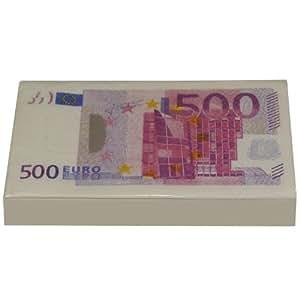 Lot 10 Mouchoirs Papier Aspect Liasse Billet 500 Euros