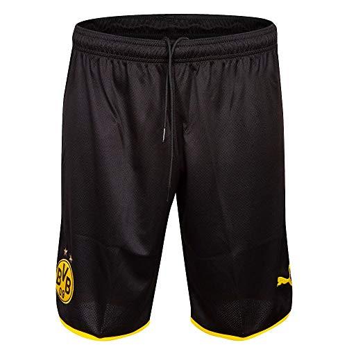 PUMA Jungen BVB Replica Shorts, Black/Cyber Yellow, 152 -