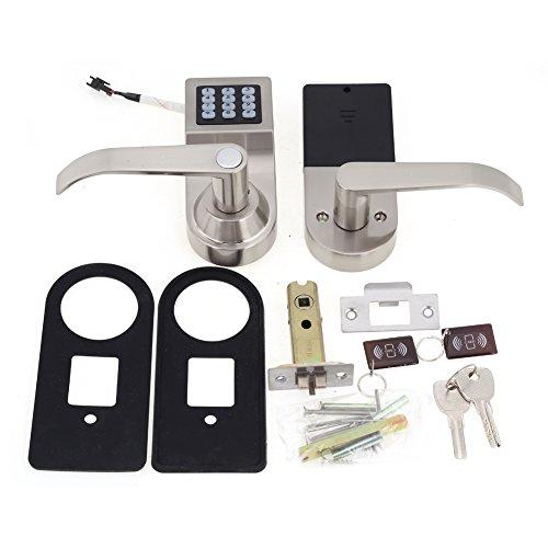 4-en-1 Cerradura Electrónica de Puerta Inteligente Desbloqueado por Contraseña Tarjeta RF Llave de Control Remoto Entrada de Seguridad en el Hogar