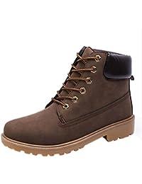 Zapatos de hombre, Manadlian Zapatos de hombre Calentar Botines Forrado de piel Invierno Otoño Martin Boots (EU:42, Marrón)