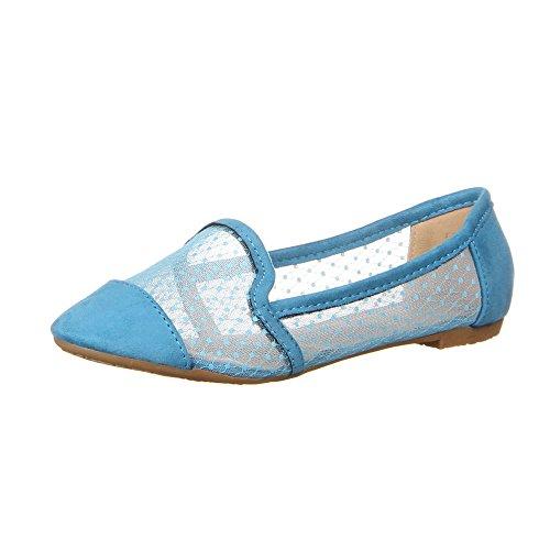 50152, Chaussures basses femme Bleu