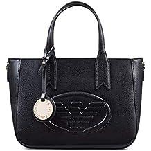 53c809084e7dd Emporio Armani Eagle Logo Femme Handbag Noir