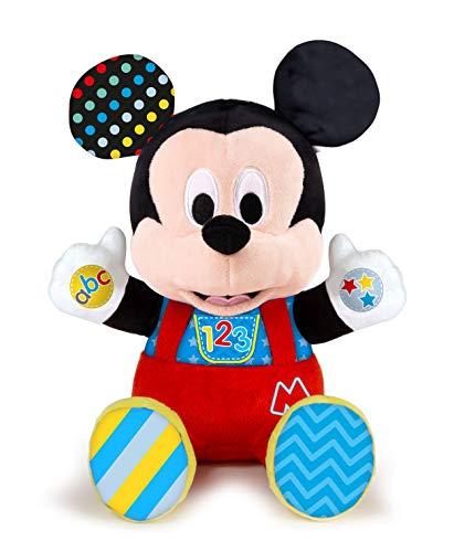 Clementoni - Disney Baby Mickey Gioca e Impara, Peluche parlante,, 17303