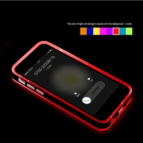 Schutzhülle für iPhone 6S 6 Plus 5S 5, mit LED-Beleuchtung, Red for iPhone 6 4.7'' Iphone Mobile-skin
