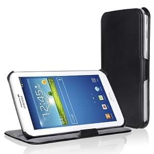 EasyAcc® Samsung Galaxy Tab 3 7.0 (7 Zoll) SM-T210 SM-T211 Hülle Leder Case Tasche Schutzhülle Flip Case Cover mit Standfunktion (Nicht kompatibel mit der Tab 3 7.0 Lite) - Kunstleder, Schwarz