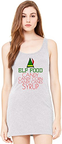 Elf Food Candy Canes Corn Syrup Funny Slogan Bella Basic ärmellose Tunika Sleeveless Tunic Tank Dress For Women| 100% Premium Cotton| X-Large