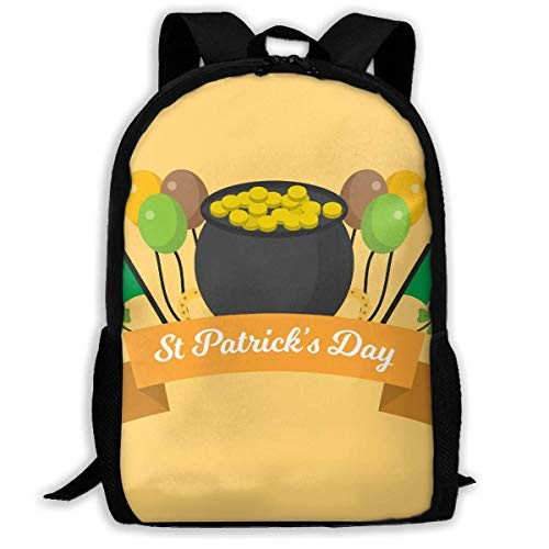 Flat St Patrick's Day Unisex Adult Unique Rucksack,School Casual Sports Book Bags,Durable Oxford Outdoor College Laptop Computer Shoulder Bags,Lightweight Travel Tagesrucksäcke