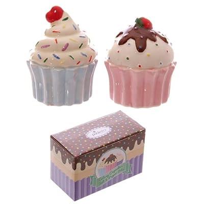 New Cupcake Design Ceramic Salt & Pepper Set