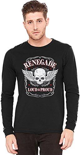Renegade Motors Loud And Proud Langarm-T-Shirt Long-Sleeve T-shirt | 100% Preshrunk Jersey Cotton Large 2-speed-motor Cool
