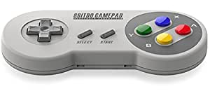 New 8bitdo SFC30 PRO Wireless Bluetooth Controller Dual Classic Joystick for IOS / Android Gamepad - PC Mac Linux Color: white2, Model: SFC30, PC / Computer & Electronics