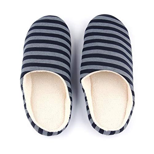 Männer Weiche Plüsch Hausschuhe Schuhe Gestreiftes Tuch Universal Paar Liebhaber Anti-Skid Sohle Haus Schuhe, Indoor & Outdoor ()