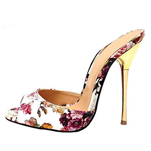 fereshte , sandales femme Weiß / Blume