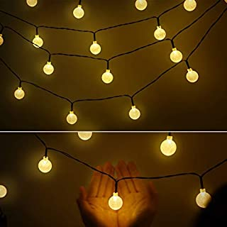 AtneP 28LED Milky Balls String Lights for Home Decoration Party Festival Diwali Christmas  WarmWhite Color