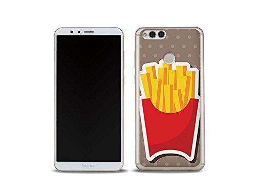 etuo Huawei Honor 7X Handyhülle Schutzhülle Etui Hülle Case Cover Tasche für Handy Fantastic Case - Pommes Frites