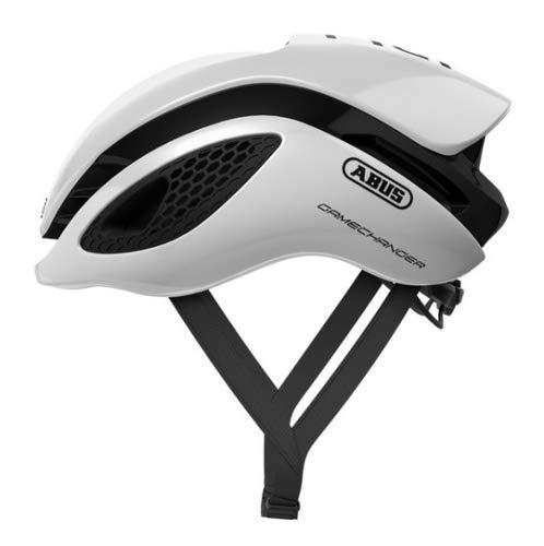 Abus Gamechanger Aero- Helm Fahrradhelm, Weiß (polar white), L (57-62 cm)