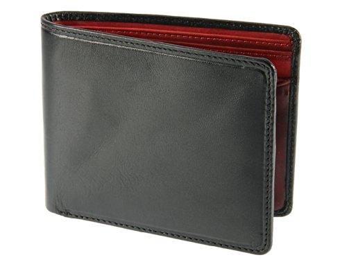 Visconti Torino Collection Standard pieghevole per verdure, colore: marrone chiaro a portafoglio in pelle, per uomo, TR30 nero/rosso
